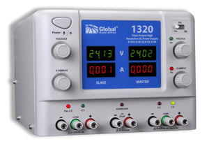 1320: DC Power Supply: 0-32V, 0-3A (2) & 5V, 3A; CSA approved
