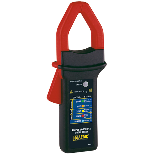 AEMC CL601 Simple Logger II Clamp Meter/Data Loggger, 600 A