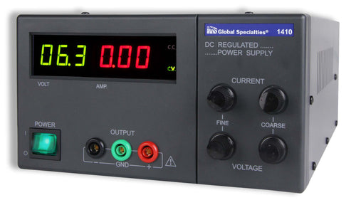 1410: 90 W DC Power Supply: 0-30 V, 0-3 A; CSA approved