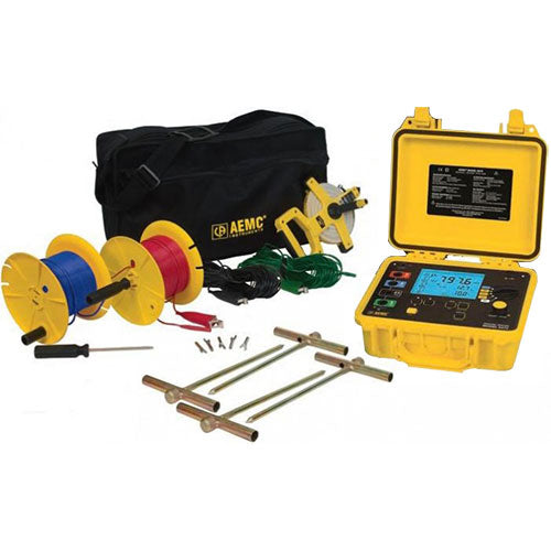 AEMC 6470-B Kit-300ft Digital Multi-Function Ground Resistance Tester Kit, 4-Point, 300ft