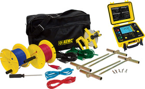AEMC 6472 Kit-300ft Ground Resistance Tester Kit, 2-Clamp, 4-Point, 300ft