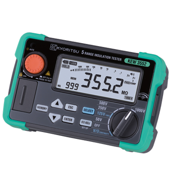 KYORITSU 3552 1000V Digital Insulation / Continuity Tester with Memory Function