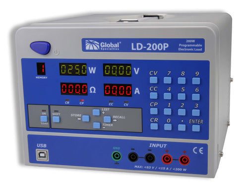LD-200P: 200 W Programmable Electronic Load; CSA approved