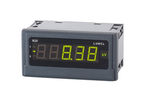LUMEL N20 Digital Indicator, 3-colour 5 digits LED display