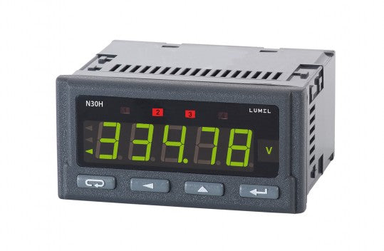 LUMEL N30H Programmable digital panel meter for DC current and voltage
