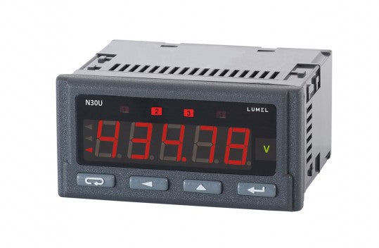 LUMEL N30U Programmable panel meter of temp., resistance, V and A