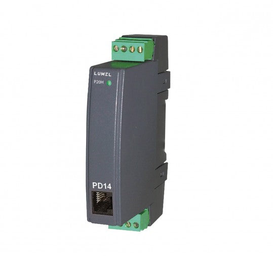 LUMEL P20H Programmable Transducer for DC V and A - RS-485 MODBUS
