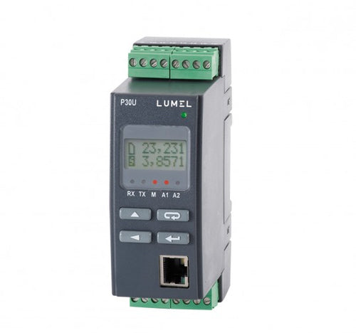 LUMEL P30U Universal transducer: temp., V and A - with Ethernet