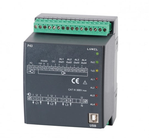 LUMEL P43 Three phase transducer of power network parameters