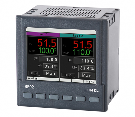 LUMEL RE92E Dual loop controller with Ethernet