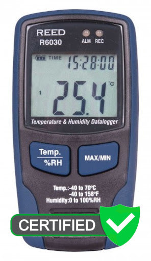 REED R6030 Temperature/Humidity Data Logger - with ISO certificate