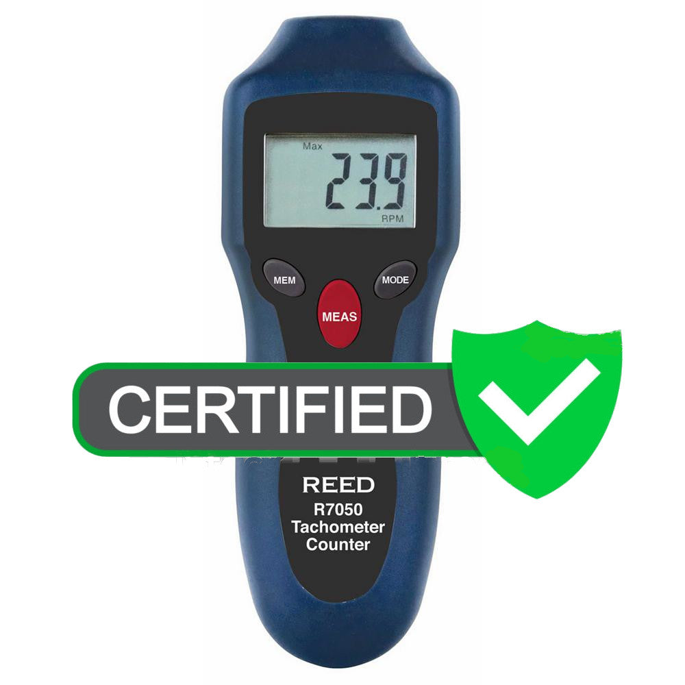 REED R7050 Compact Photo Tachometer and Counter - with ISO certificate