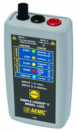 AEMC L562 Simple Logger II AC Voltage/Current Data Logger, 600 V