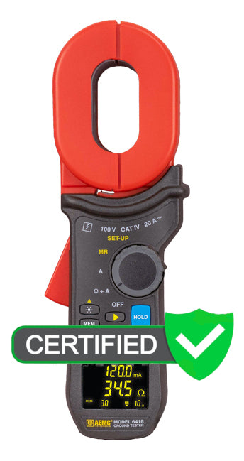 AEMC 6418 Ground Resistance Tester with Certificate