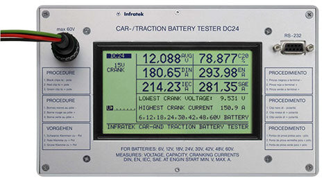 Infratek DC24 Car- and Traction Battery Tester