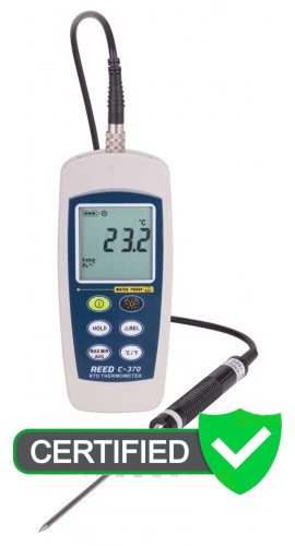 REED C-370 RTD Thermometer with ISO Certificate