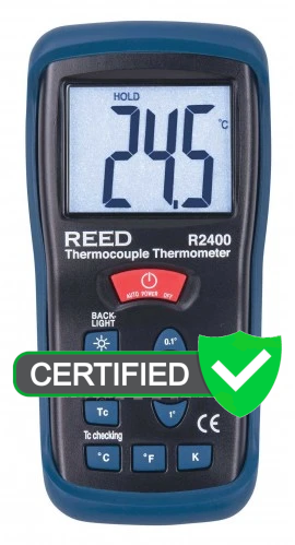 REED R2400 Type K Thermocouple Thermometer with ISO Certificate