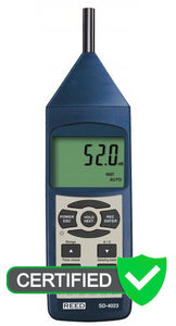 REED SD-4023 Data Logging Sound Level Meter with ISO Certificate