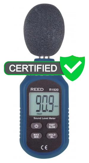 REED R1920 Compact Sound Level Meter with ISO Certificate