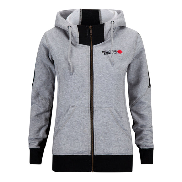 Bella Rose Fleece Hoody Grey