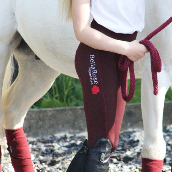 Burgundy Knee Grip Riding Leggings