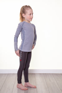 Junior Bella Rose Grey Knee Grip Riding Leggings