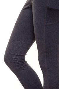 Junior Bella Rose SUMMER Grey Knee Grip Riding Leggings