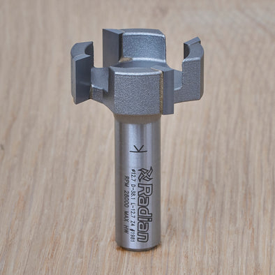 4 Flute Surfacing Router Bit 38mm x 12.7mm