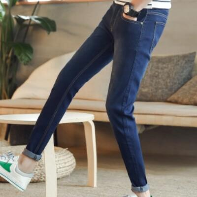 2017 Quality Hot Sell Blue Jeans Men Male Students Dress Youth Leisure Time Pants Trousers Big Size Free Shipping Zipper Casual