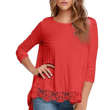 Autumn Women Long Sleeve Solid 3 Colors Lace Blouse 2017 Female Blouses Ladies Office Shirt Loose Cotton Tops Blusas