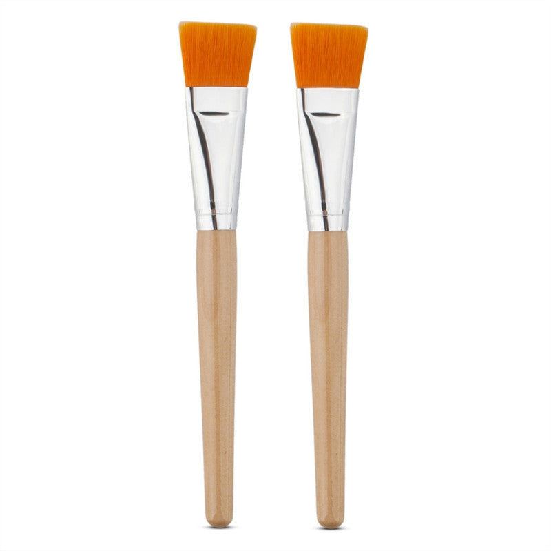 2pcs Wooden Handle Facial Mask Brush Professional for Applying Facial Mask Eye Mask or DIY Needs