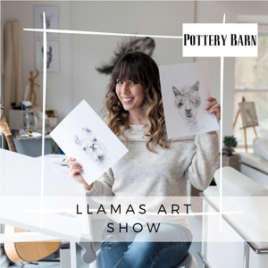 OCTOBER 13th - Llamas Art Show At Pottery Barn!