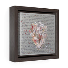 Square Framed Art Print | Lullaby: Heart