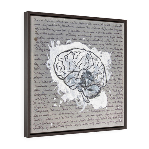 Square Framed Art Print | Lullaby: Mind