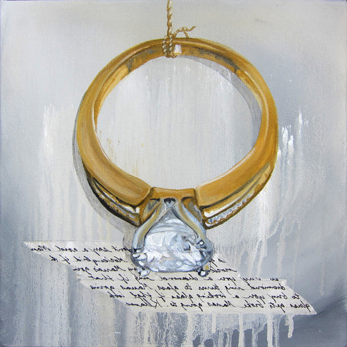 Square Framed Art Print | Lullaby: Diamond Ring