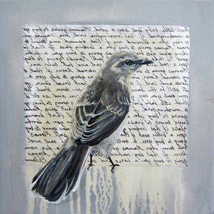 Square Framed Art Print | Lullaby: Mockingbird