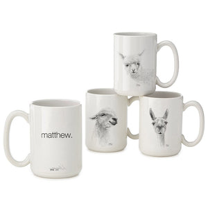 Personalized Llama Mugs - ADDISON