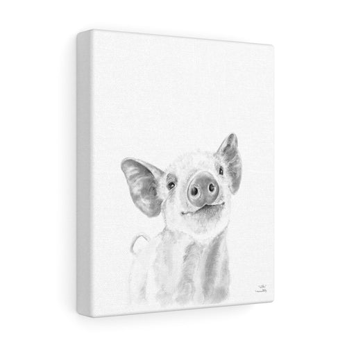 Wilber Pig - Animal Art Canvas