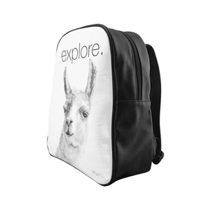 EXPLORE ruby Bag- llama Backpack