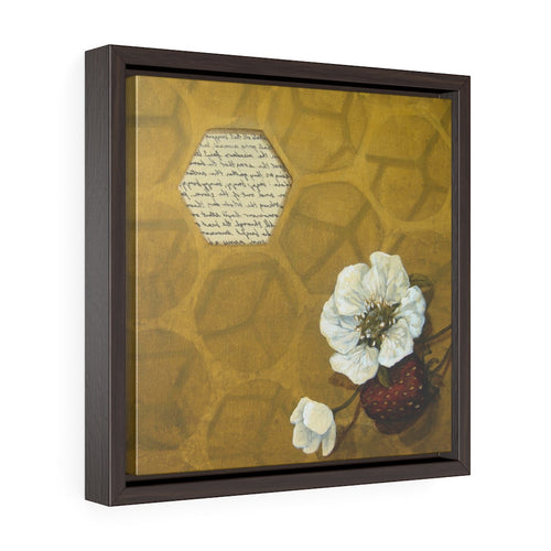 Square Framed Art Print | Lullaby: Honeybees