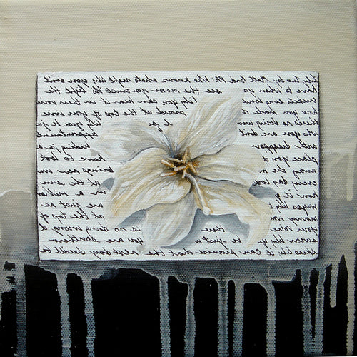 Square Framed Art Print | Lullaby: A Lily