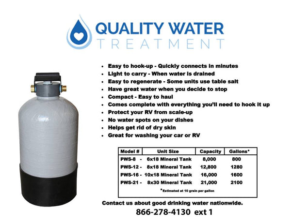 best portable water softener and filter