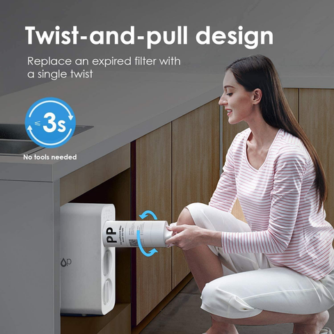 WaterDrop Under Sink Integrated Dual Carbon Filtration System