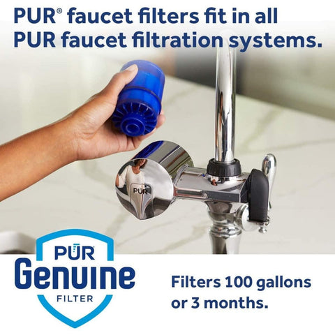 PUR Water Filter Replacement (2 Pack) - MineralClear Faucet Water Filter (RF99992)