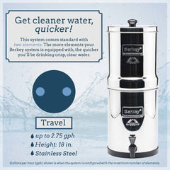 Travel Berkey Water Filter (1.5 Gal)