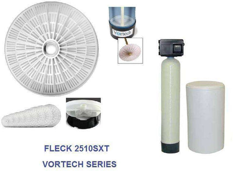 Fleck 2510 SXT Water Softener With Vortech Technology Saves Salt & Water