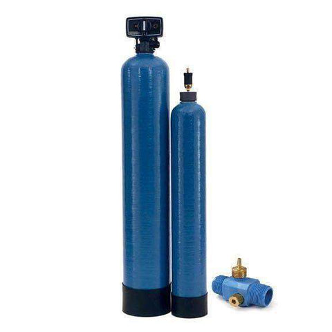 Terminator Iron Filter System, Uses Air Injection To Oxidize Iron And Sulfur For Removal