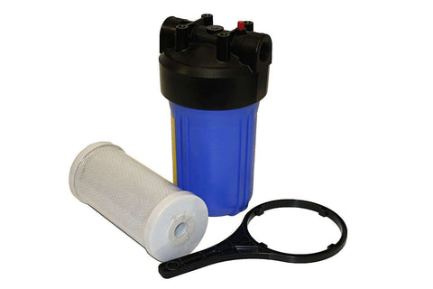 "Whole House Water Filter Carbon Block 10"" Big Blue Cartridge Included"