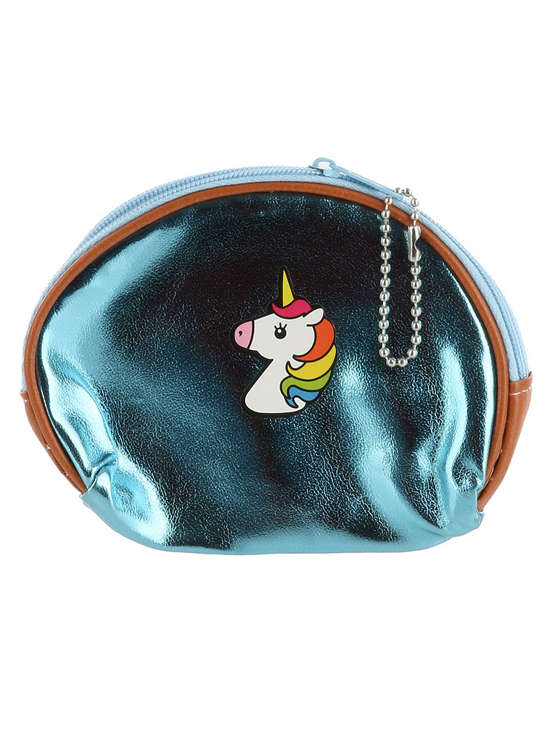 UNICORN METALLIC VINYL COIN PURSE
