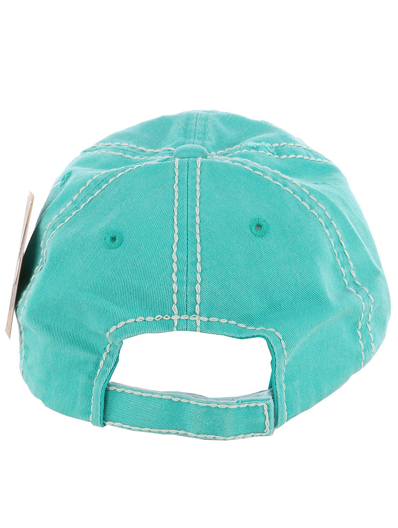 SOUTHERN RAISED JESUS DISTRESSED BASEBALL CAP